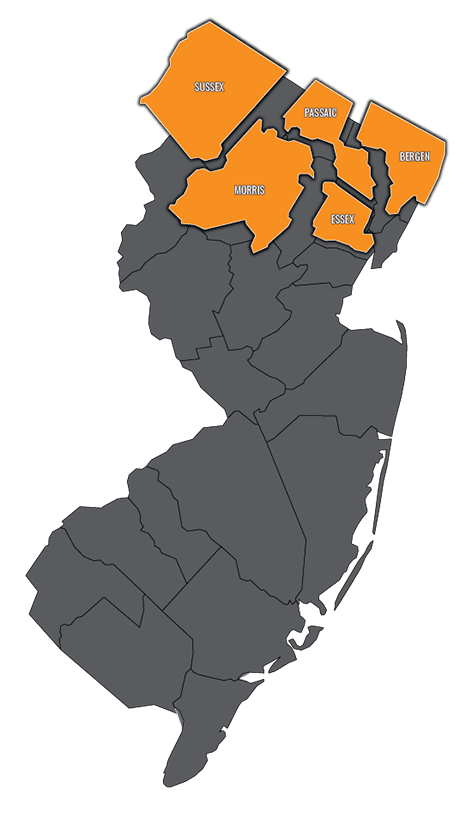 Pest Control New Jersey Map